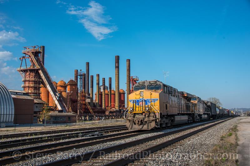 Photo 5508<br /> Union Pacific (on NS)<br /> Birmingham, Alabama<br /> March 24, 2019
