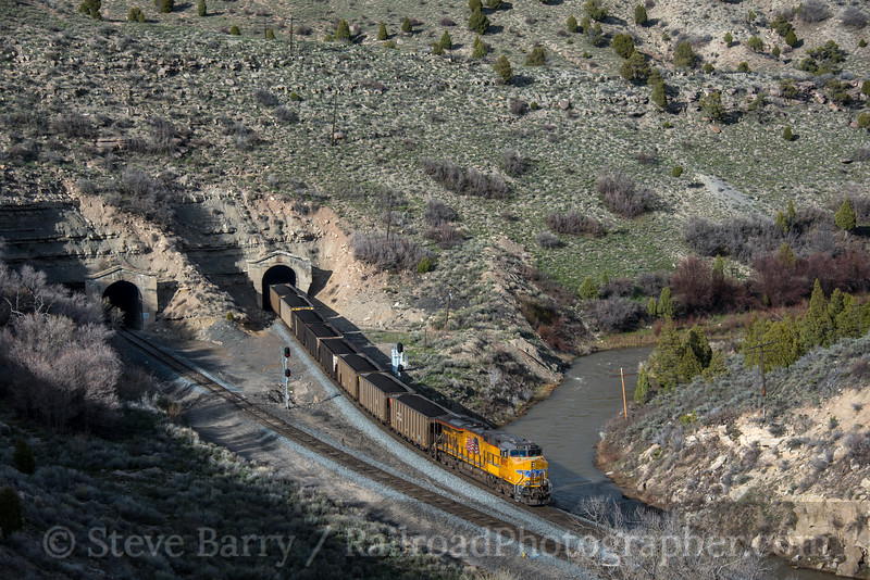 Photo 5572<br /> Union Pacific<br /> Kyune Tunnels, Colton, Utah<br /> May 11, 2019