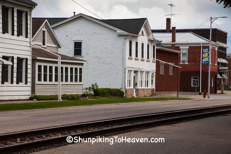 Street-Running Railroad Tracks, Bellevue, Iowa