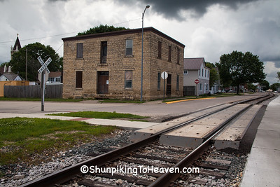 Street-Running Railroad Tracks, Bellevue, Iowa