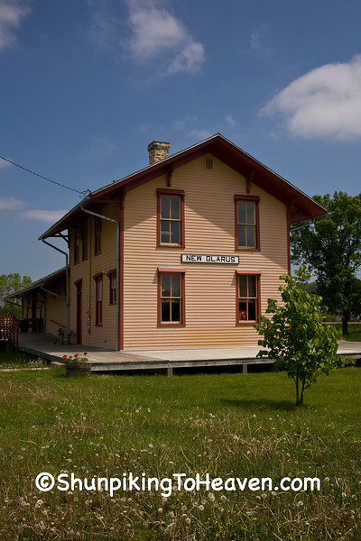 The Chicago, Milwaukee and St. Paul Railroad Depot, New Glarus, Wisconsin