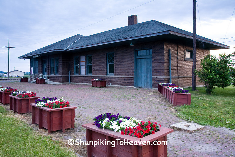 Brick Railroad Depot, Sheldon, O'Brien County, Iowa