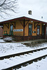 Middleton Railroad Depot in Winter, Dane County, Wisconsin
