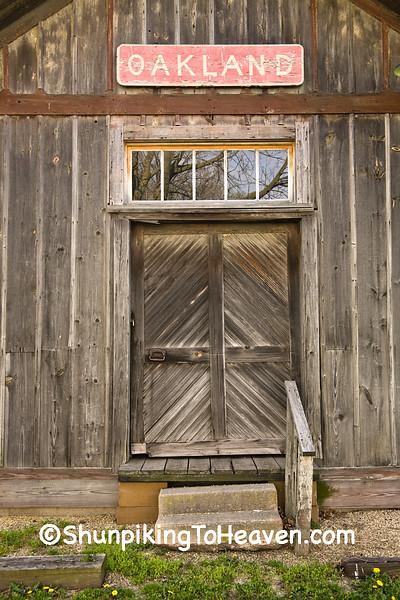 Door of Oakland Railroad Depot, Coles County, Illinois