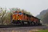 BNSF Railway Diesel Train, Carroll County, Illinois