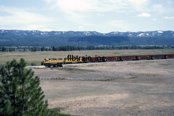 UP1992040718 - Union Pacific, Cascade, ID, 4/1992