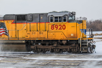 UP8920 rushes a very late California Zephyr through Ashland, NE towards Omaha, NE and Chicago, IL.
