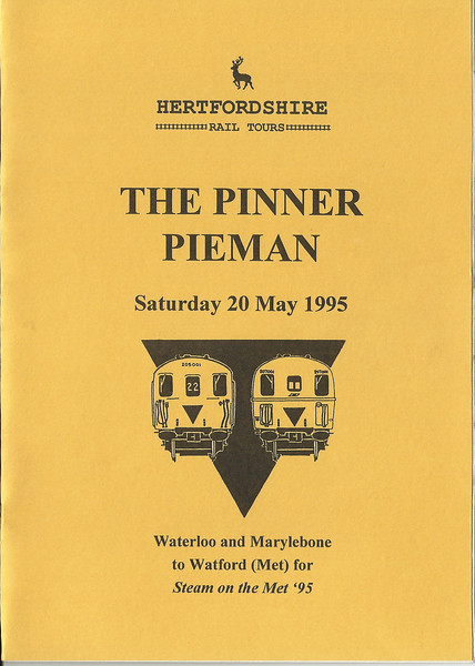 Pinner Pieman <br /> <br /> Tour that ran in conjunction with the Steam on the Met 1995 Event got some top rare track in on this one and the chance to have 205 Hampshire units working on the Underground Metropolitan Line was to much of a chance to miss out on