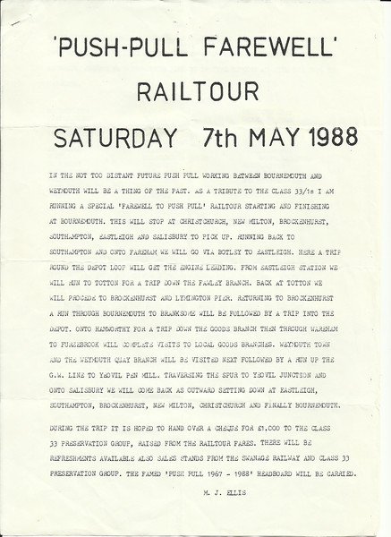 This is the letter that was doing the rounds advertisng the 33/1 Push Pull Railtour into what turned out to be a really top day out<br /> <br /> New to Smugmug??<br /> <br /> To read the print clearly: <br /> <br /> Best way to read it if you new to Smugmug<br /> Put your mouse pointer over  pic and double click which blows it up. <br /> <br /> Then in the Bottom RIGHT hand corner there is a RESIZE BUTTON so select size you want. <br /> <br /> To cancel and come back just click the big X in top right hand side