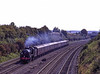 """SR U-Class No. 31625 at South Moreton with the Waterloo - Bristol """"Severn Venturer"""" <br /> on 13th September 1997. Scanned Transparency."""