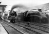 60009 Union of South Africa arrives at Carlisle ready to be replaced by 46256 Sir William A. Stanier F.R.S. with the 'Scottish Lowlander' on 26th September 1964
