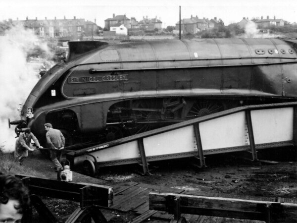 4498 Sir Nigel Gresley Weymouth shed after working The A4 Locomotive Society Ltd No  4498 'Sir Nigel Gresley' on tour on the 'Southern' 3rd & 4th June 1967 (2)