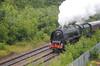 46233 Duchess of Sutherland Scarborough Flyer Woodhouse Lane Bridge Brighouse Scarborough Flyer 20-7-12 007