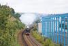 46233 Duchess of Sutherland Woodhouse Lane Bridge Brighouse Scarborough Flyer 27-7-12 015