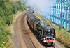 46233 Duchess of Sutherland Woodhouse Lane Bridge Brighouse Scarborough Flyer 3-8-12 012