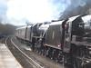 45407 The Lancashire Fusilier with 'The Tin Bath' railtour Deighton 17-3-13