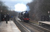 44871 & 45407 The Lancashire Fusilier with 'The Tin Bath' railtour Deighton 17-3-13