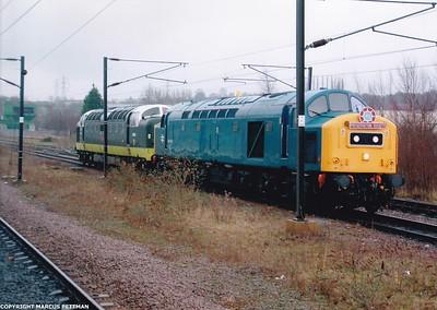 D345+D9000 Royal Scots Grey Grantham 25-1-2005