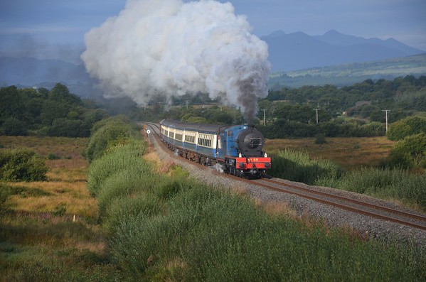 On Wednesday morning, No.85 departed Killarney at 0816hrs with the 0815 Killarney / Westport Spl. 85 would haul the train as far as Portarlington. The train is pictured passing Stagmount, west of Rathmore. Weds 05.09.18