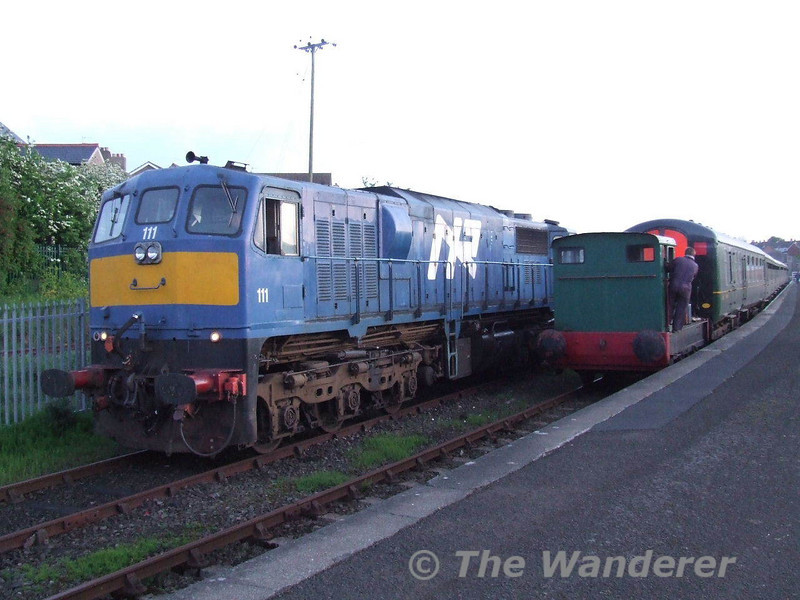 111 and an ex sugar locomotive at Whitehead. Sat 19.05.07