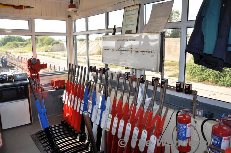 Wellington Bridge signalbox. Sat 11.09.10