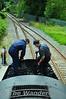 At Enniscorthy the crew shovel coal. Sun 25.07.10
