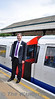 General Manager for the Victoria Line, John Doyle poses for photographs at Ealing Broadway. John travelled on the tour throughout the day in different cars and answered any questions passengers  had. Sun 15.05.11
