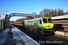 215 rolls through Clonsilla with the 1200 Maynooth - Pearse RPSI Santa Special. Sat 17.12.11