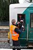 Driver and Signalman exchange Staffs at Birdhill. Sat 31.03.12