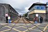 The RPSI South Clare Railtour at Athenry Station. To the right is the disused Athenry Signal Box. Sat 12.05.12