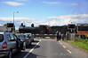 186 crosses Ardrahan Level Crossing. Sat 12.05.12
