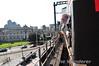 Crossing Dublin City on the Loop Line Bridge. To the left is the Custom House building. Sat 24.03.12