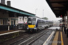4002 arrives at Coleraine with the 1133 Derry / Londonderry - Great Victoria Street.  Sat 07.09.13
