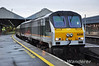 (8)208 waits to depart Connolly Station with the 0735 Enterprise to Belfast Central. Sat 07.09.13