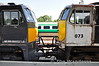071 and 073, in new and old liveries at Heuston. Sat 20.07.13