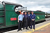 The RPSI Specials are renowned for their family days out. Family connections even extend to the operation of the trains. Cousins Lar Griffin & Ken Fox are photographed next to Brothers Robbie Jolley & Mark Jolley. Sun 11.08.13