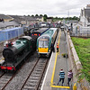 22045 arrives at Athy with the 1505 Waterford - Heuston. It would be overtaking the RPSI Special. Once the 22000 cleared the single line section to Cherryville Jct. the Railtour would be able to depart. Sun 25.08.13