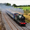 461 passes the Curragh Mainline. 1455 Kilkenny - Connolly Marble City Railtour. Sun 25.08.13
