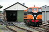 GM 146 stabled at Downpatrick Shed. Downpatrick Station. Sun 20.07.14