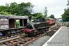 O&K No. 1 runs around its train at Downpatrick. Sun 20.07.14