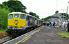 074 stands at Cloughjordan during a photo stop. 1535 Limerick - Connolly IRRS Spl. Sat 19.07.14
