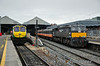 078 stands at the head of the 0920 Connolly - Waterford IRRS Tour. On the right is 227 with the 0935 to Belfast Central. Sat 19.07.14