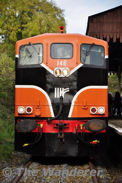 146 at Downpatrick Loop Platform. Sat 18.10.14