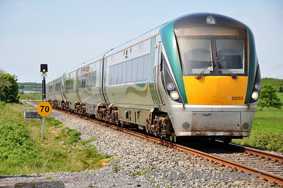 22053 + 22054 at Frenchfort Level Crossing. 1305 Galway - Heuston. Fri 16.05.14