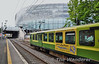 "The 4th and final round trip of the day, the 1605 Connolly - Bray ""Dublin Bay Hopper"" Special passes the Aviva Stadium at Lansdowne Road. Sat 07.06.14"