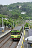 "8107 arrives at Killiney. 1305 Connolly - Bray ""Dublin Bay Hopper"" Special. Sat 07.06.14"