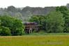 W&SVR train crossing viaduct near Kilmeaden. Sat 28.06.14