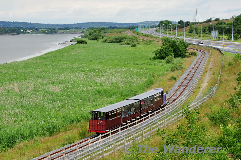 Waterford & Suir Valley Railway Train at Knockhouse Upper. Sat 28.06.14