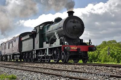 "461 passes Laytown. 1025 Connolly - Drogheda ""Balbriggan Festival"" railtour. Sun 31.05.15"