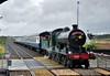 461 arrives into Rathmore. 1630 Killarney - Cork South Munster Railtour. Sun 10.05.15